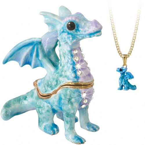 Dragon Trinket Box and Necklace